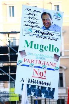Manifestanti in Piazza Navona