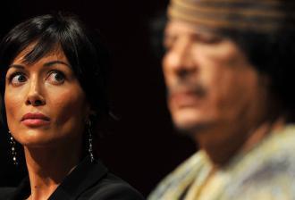 Gheddafi in compagnia della Carfagna