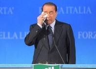 Silvio Berlusconi piange
